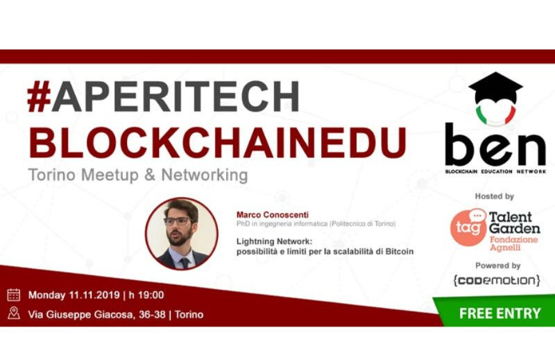 Meetup #AperiTech TORINO Novembre di BEN Italia Banner