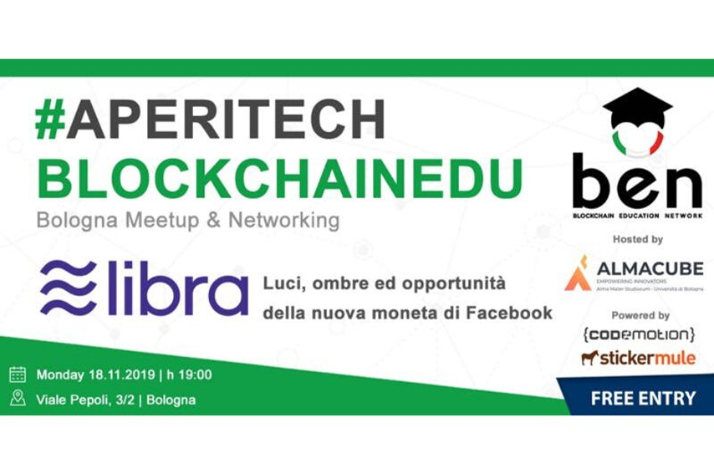 BOLOGNA Meetup Aperitech di BEN Italia Banner