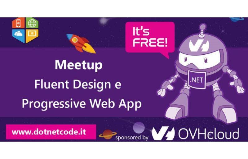 Meetup Fluent Design e Progressive Web App Banner