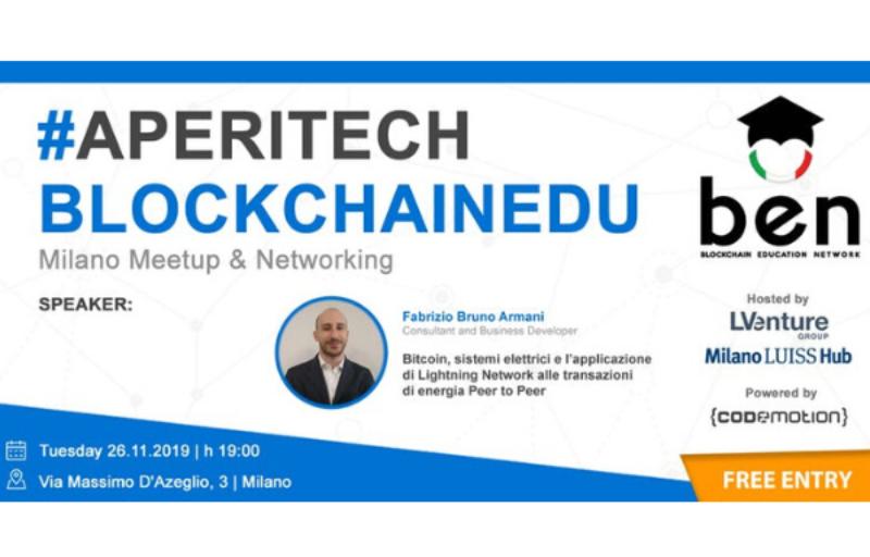 MILANO Meetup #Aperitech di Novembre di BEN Italia! Banner