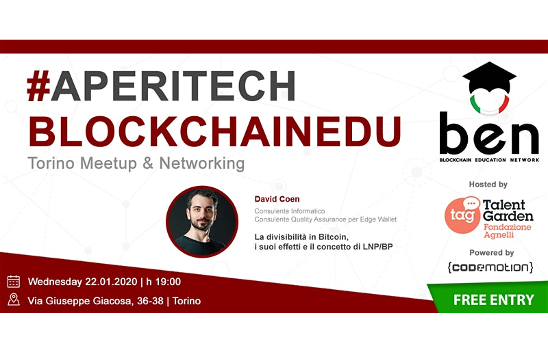 TORINO Meetup #AperiTech di Gennaio di BEN Italia Banner