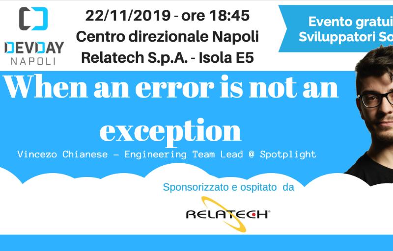 When an error is not an exception Banner