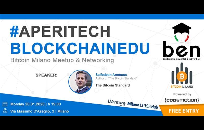 Meetup #AperiTech MILANO di Gennaio di BEN Italia Banner
