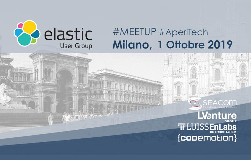 Meetup #AperiTech di Elastic User Group Italy! Banner