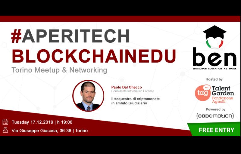 Meetup #AperiTech TORINO di Dicembre di BEN Italia! Banner