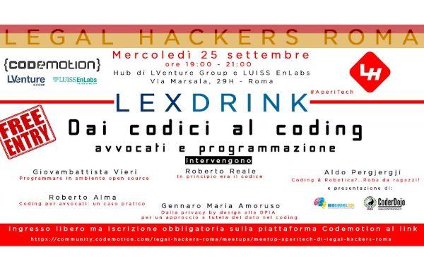 Meetup #AperiTech di Legal Hackers Roma! Banner