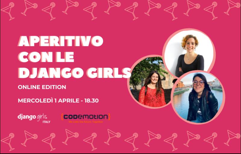 Meetup #AperiTech Online Edition di Django Girls Italia Banner