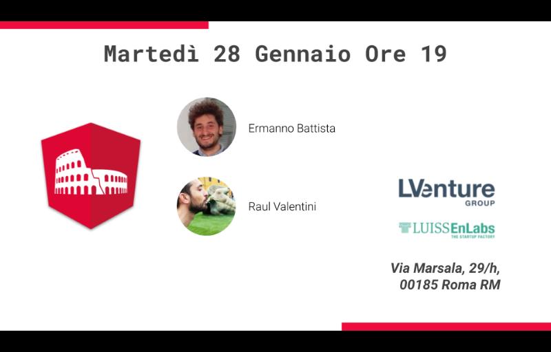 Meetup #AperiTech di Gennaio di Angular Roma Banner
