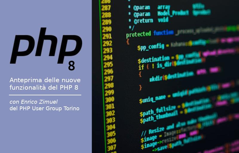 Anteprima delle novità del PHP 8 Banner
